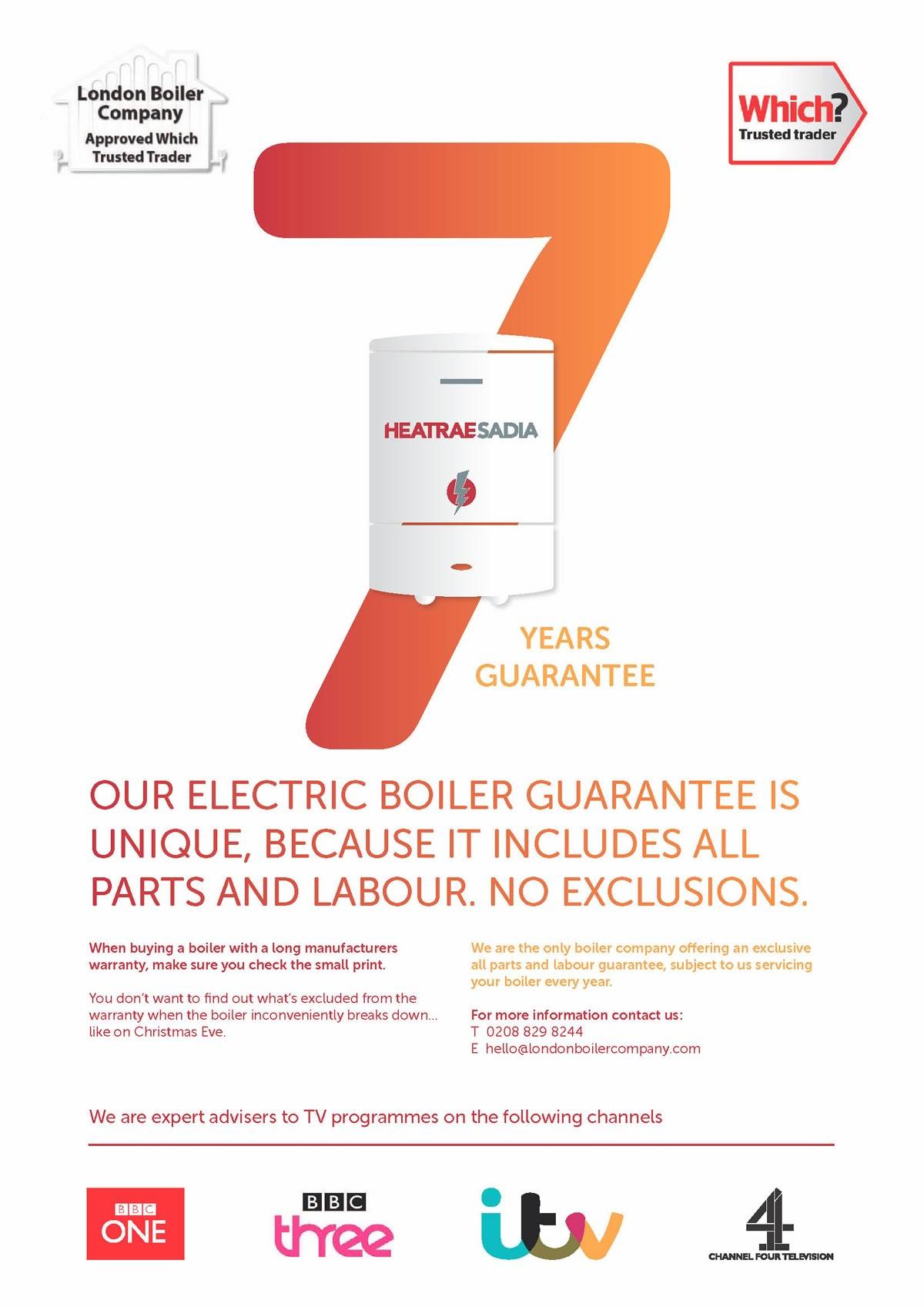 7 year boiler warranty